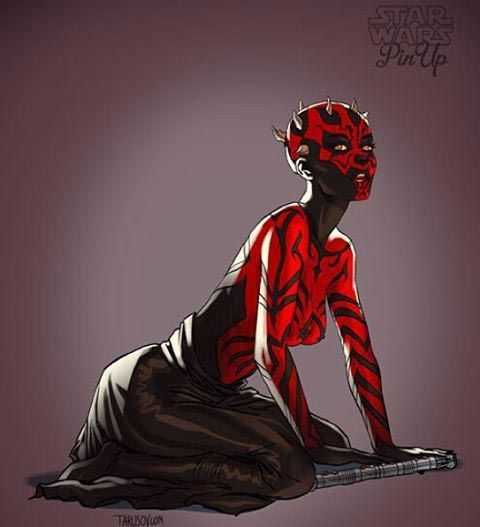 The_characters_of_Star_Wars_redrawn_in_sexy_pin_up_images_6